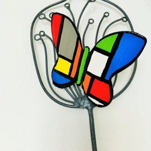 Papillon métal peint 9x8