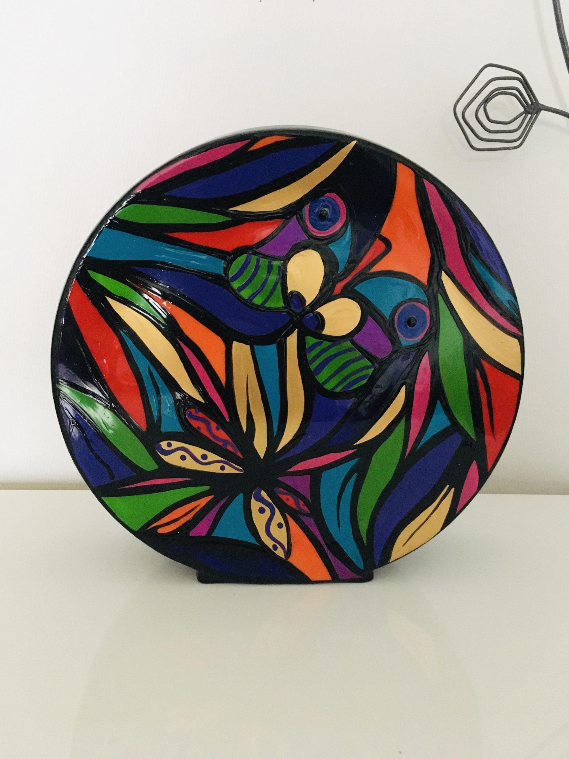 Vase rond porcelaine 25cm de diamètre