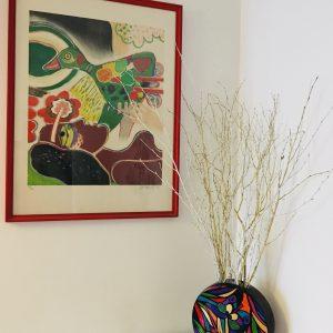 Vase rond porcelaine