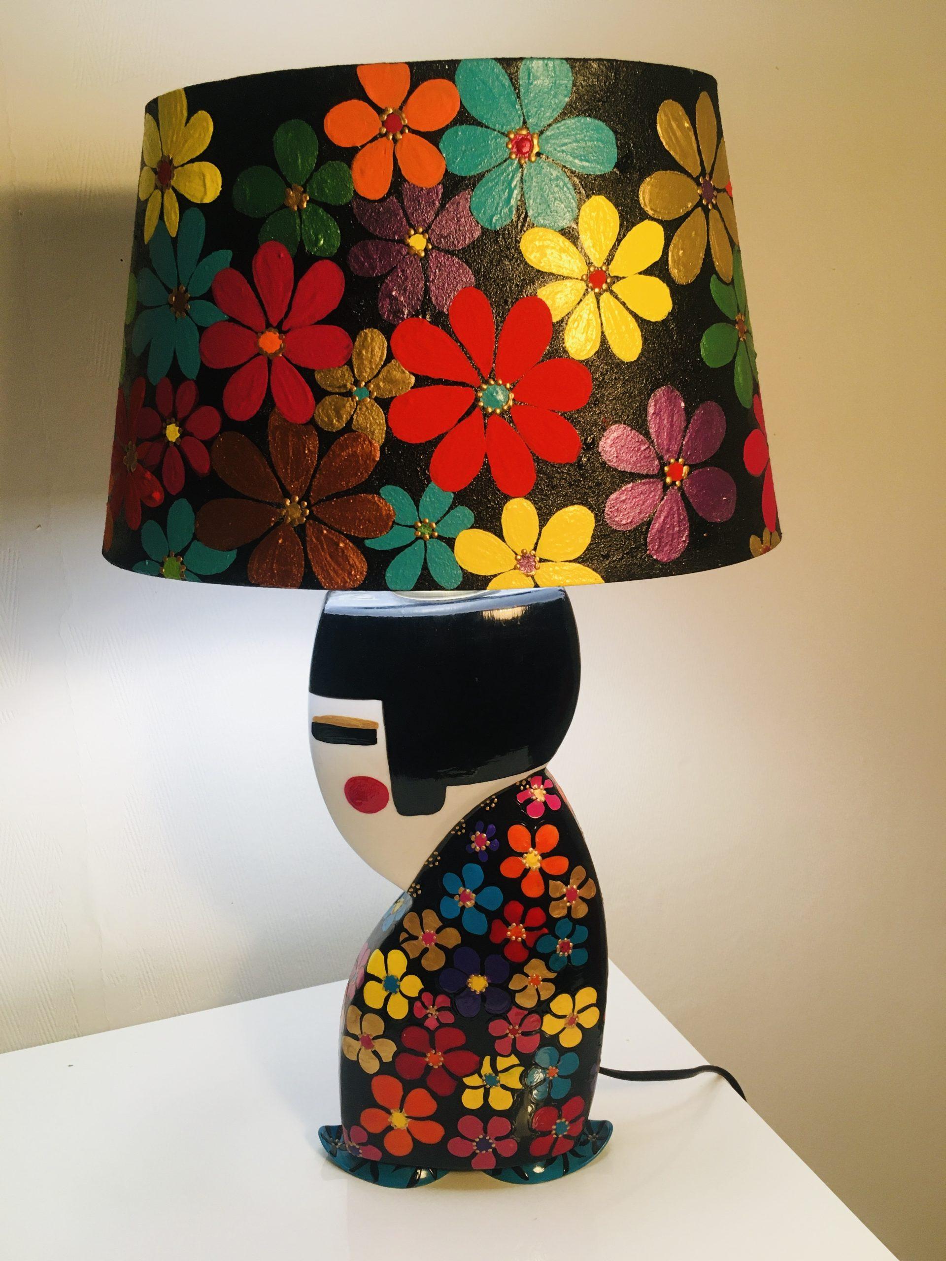 lampe porcelaine Geisha